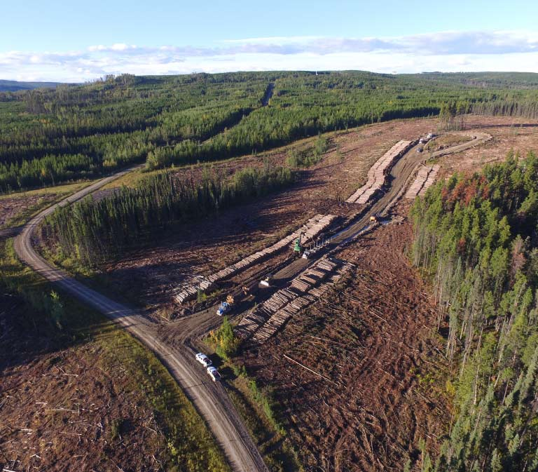 Log Hauling Woodlands Operation - Iron Pine Contracting, Grande Prairie